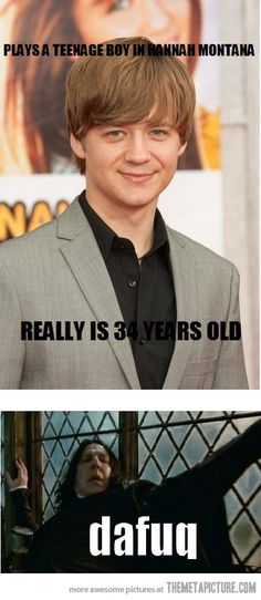 I wonder if this is the same thing people think when they find out how old I am. It's certainly the same look I get.
