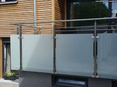 Picture result for balcony railing stainless steel glass
