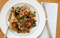 Braised Chicken with Parsley and Capers