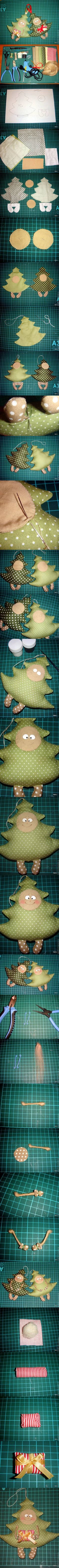DIY Funny Fabric Christmas Tree DIY Projects