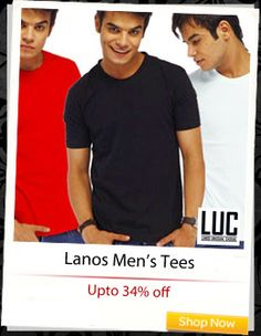 Lanos Men's Tees at up to 34% off!