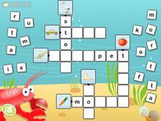 Appen Happi stavar består av 48 olika minikorsord fördelade på 4 svårighetsnivåer med 12 korsord i varje nivå. Varje korsord består av 4-8 ord i en fläta med relevanta bokstavbrickor utplacerade runt flätan. Spelet går ut på att, med så få misstag som möjligt, dra bokstavbrickorna till sina rätta platser i flätan. Bokstäver dragna till sin rätta plats fastnar i flätan. Bokstäver dragna till fel plats åker tillbaka. Färgglada originalbilder illustrerar alla ord i flätorna.