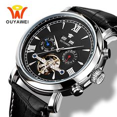 Classic Kessaris Men's Automatic Skeleton Back Watch