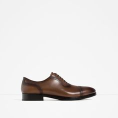 863f5ce63ce223 ZARA - MAN - BROGUED LEATHER OXFORD SHOES Fashion Advisor