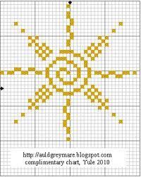 EMBROIDERY – CROSS-STITCH / BORDERIE / BORDUURWERK – SUN / SOLEIL / ZON - cross stitch sun - Google-søk