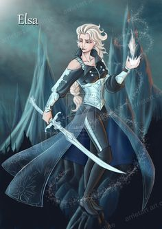 Elsa+the+Frozen+warrior+by+Arrietart.deviantart.com+on+@DeviantArt