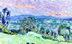Saint-Tropez Landscape / Pierre Bonnard - circa 1928