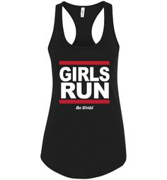 This Girl Run the Worl... is exactly the inspiration you've been looking for. Wear your motivation! Get yours NOW here http://impowerapparel.com/products/girl-run-the-world-ladies-racerback-tank-top?utm_campaign=social_autopilot&utm_source=pin&utm_medium=pin