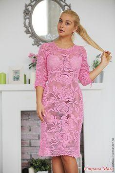 Платье в филейной технике!!! (ДОПОЛНИЛА) - Вяжем вместе он-лайн - Страна Мам
