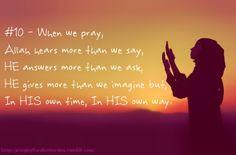 When we pray ....