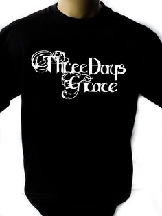 Three Days Grace Black New T-Shirt Fruit of the Loom ALL SIZES #FruitoftheLoom #BasicTee