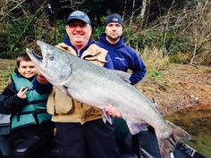 THREE GENERATIONS — Doug Vernand of Ojai was fishing with son Ryan and grandson Jordan — three generations of anglers — on the Smith River with guide Andy Martin of Wild River s Fishing when this big king hit a cluster or roe cures with Pautzke's BorxOFire.