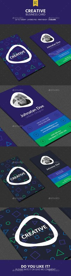 Creative Vertical Business Card - Creative Business Cards Download here : https://graphicriver.net/item/creative-vertical-business-card/19307618?s_rank=178&ref=Al-fatih