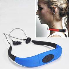 HOT 4GB underwater waterproof MP3 Player with FM radio head wearing music Players for Diving&swiming&surfing&sports&running IPX8 - athleticoutdoors