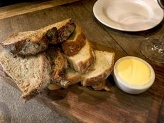 Deeson's delicious fresh bread board served with butter.