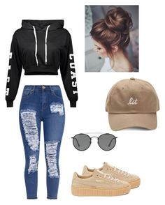 """""""Good💛"""" by mallaauryrochaa on Polyvore featuring Puma and Ray-Ban"""