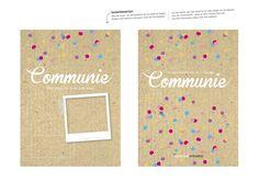 bedankkaartje communie meisje confetti | kraft | thank you card | party | feestje | girl