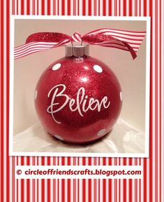 Red Glitter Ornaments