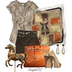 Hermes Horses by leegal57 on Polyvore