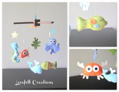 Baby Mobile  Mobile  Under the Sea Mobile  Nursery by LoveFeltXoXo, $135.00