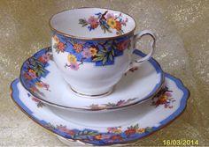 Royal Albert June Vintage English China Tea cup Saucer & Teaplate trio 7738