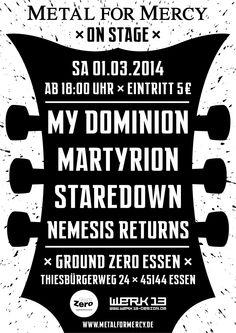 "Plakate: Metal For Mercy ""on stage"" 2014 | Werk 13 - Designbüro"