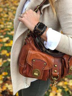 Dark Brown Glossed Braided Leather Women's Apple Watch