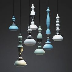 AphroChic: The New Trend In Lighting: Pastels: Benben Pendants by Jacco Maris Design