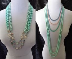 Sea Breeze + Sugar Rush necklace by Premier Designs. Order both for a fun way to mix and match your items! Check out http://kristihenry.mypremierdesigns.com/ to view more jewelry in our online catalog!
