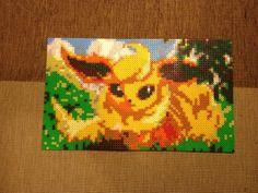 Pokemon Flareon Bead Sprite (Nabbi, Hama, Perler). €45,00, via Etsy.