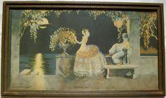 1928 Art Deco Framed Lithograph Print  by EvenStephenAntiques