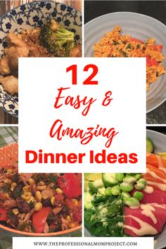 Not sure what to have for dinner tonight? Take a look at these 12 quick and easy dinner recipes and you're bound to find some awesome inspiration.