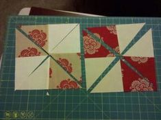 Disappearing 4 patch/pinwheel using charm packs!!