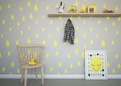 Kids Room Design : Kids Bedroom With Wood Chair And Toy Duck Also Hangers Also Picture Frame And Splash Of Yellow Cute and Beautiful Kids Rooms Design Cute And Beautiful Kids Rooms Design. Nursery Decor, Room Decor, Deco Kids, Nursery Inspiration, Kid Spaces, Kids Decor, Boy Room, Child Room, Girls Bedroom
