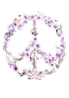 SALE Peace A3 Print by BrigitteMayArt on Etsy