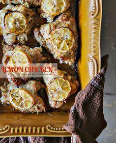 Baked Lemon #Chicken Thighs