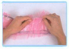 coser falda de volantes de tul - paso 2                                                                                                                                                                                 Más