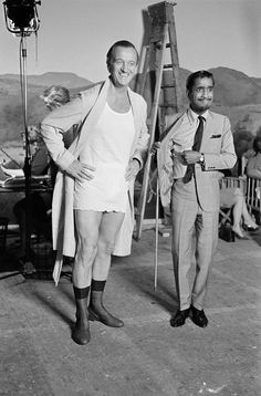 David Niven and Sammy Davis Jr -- Would context enhance giggle factor? Maybe.