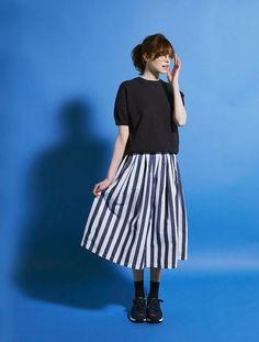 Japan Fashion, Fashion 2017, Look Fashion, Korean Fashion, Fashion Beauty, Womens Fashion, Modest Fashion, Skirt Fashion, Up Girl