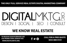 Digital MKTG is the best company, providing SEO services for real estate. Our highly experienced professionals will provide you with great services.
