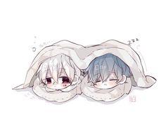 Soraru x Mafumafu Chibi Boy, Kawaii Chibi, Cute Chibi, Kawaii Anime, Anime Oc, Anime Chibi, Anime Guys, Manga Anime, Cute Animal Drawings