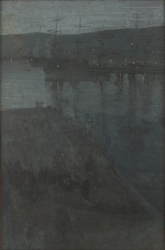 James McNeill Whistler, Nocturne in Blue and Gold: Valparaiso   F1909.127a-b
