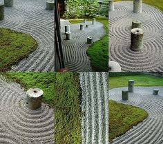 Seven cylindrical stones are arranged in the moss field so as to represent main stars of the Great Bear of the heaven. These stones were originally foundation-stones used at the other place in the temple.