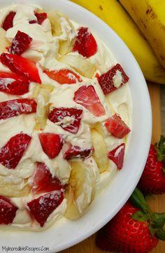 Strawberry Banana Cheesecake Salad!