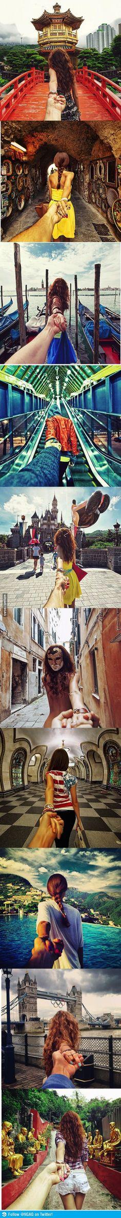 Photographer's girlfriend leads him around the world
