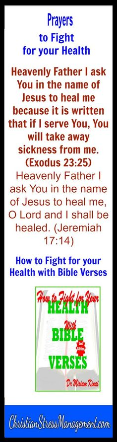 Bible prayers to fight for your health