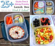 25+ gluten-free and allergy-friendly #lunchbox ideas for work and school