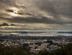 from berkeley hills: bay bridge, campanile, downtown, the bay, and the golden gate beyond. tracey taylor photo from berkeleyside