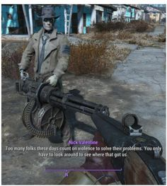 """I saved this before BUT I realized that they called Nick a """"stupid robot"""" and I just had to fix it. Fallout 4 Funny, Fallout Tips, Fallout Comics, Fallout Fan Art, Fallout New Vegas, Video Game Memes, Video Games Funny, Funny Games, Gamer Humor"""