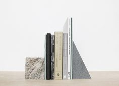 Granit bookends by Silje Nesdal